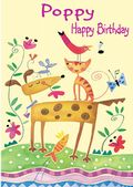 Happy Birthday - Colourful Pets - Girls Names